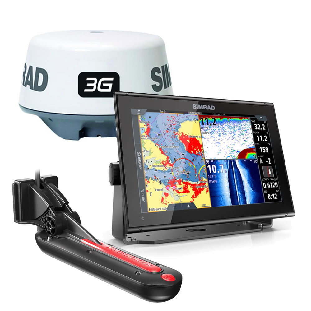 GO12 XSE ROW SIMRAD chartplotter con TOTALSCAN e RADAR 3G display 12 art. 000-14454-001(Anche in comode rate)