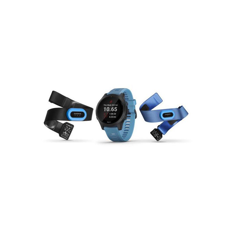 GARMIN Forerunner 945 Blu Tri bundle con musica e funzioni avanzate per corsa e triathlon art 010-02063-11(Anche in comode rate)
