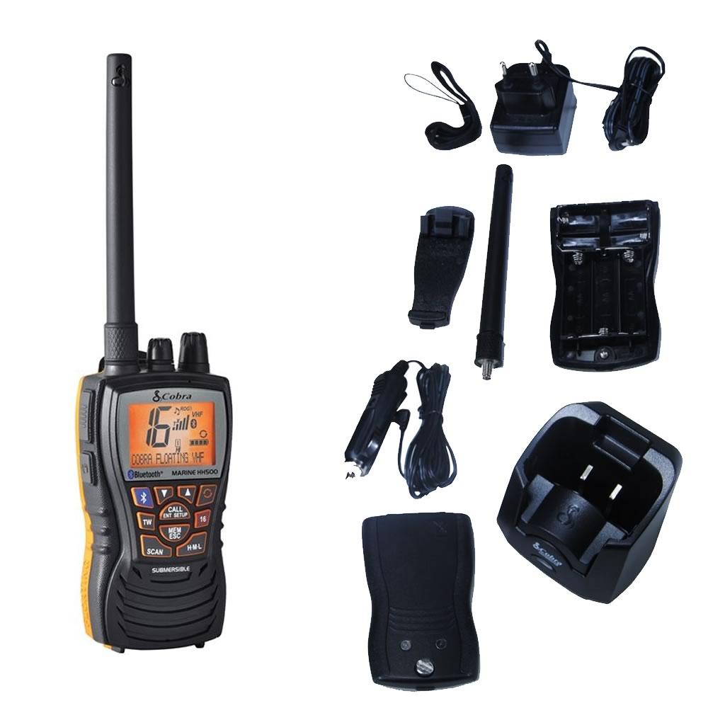Cobra Marine MR HH500 FLT BT EU VHF marino portatile con Microblue Bluetooth e Noise Cancelling art. 020-2500