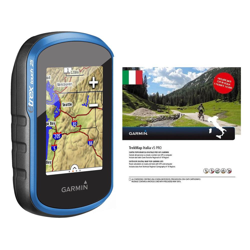 GARMIN ETREX TOUCH 25 GPS/GLONASS + TREKMAP ITALIA V5 PRO ART.020-00182-06(Anche in comode rate)