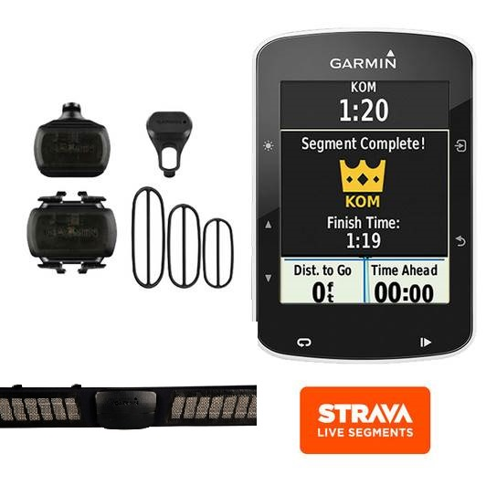 GARMIN EDGE 520 BUNDLE  + FASCIA PREMIUM +SENSORI + STAFFE GARANZIA 24 MESI IT(Anche in comode rate)