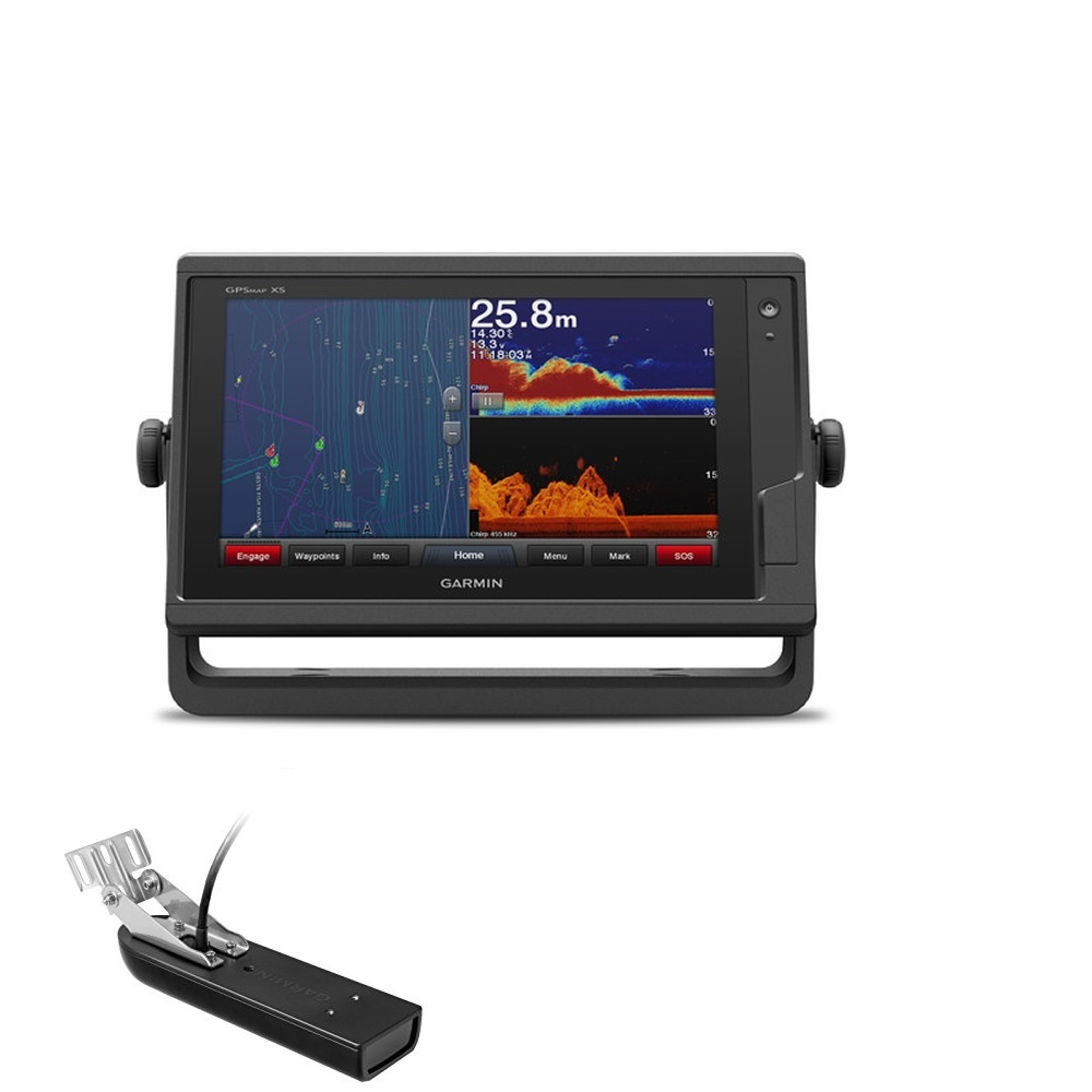 GARMIN GPSMAP 722xs eco-chartplotter CHIRP ART.010-01738-02 CON TRASD.POPPA GT23M-TM(Anche in comode rate)