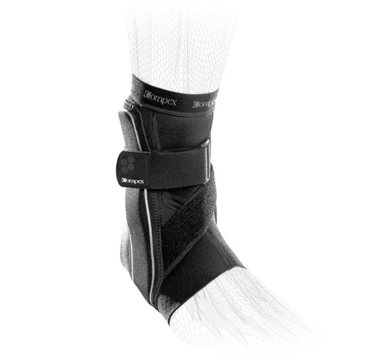 COMPEX BIONIC ANKLE Cavigliera per sostegno piede destro Tg. XL Nera