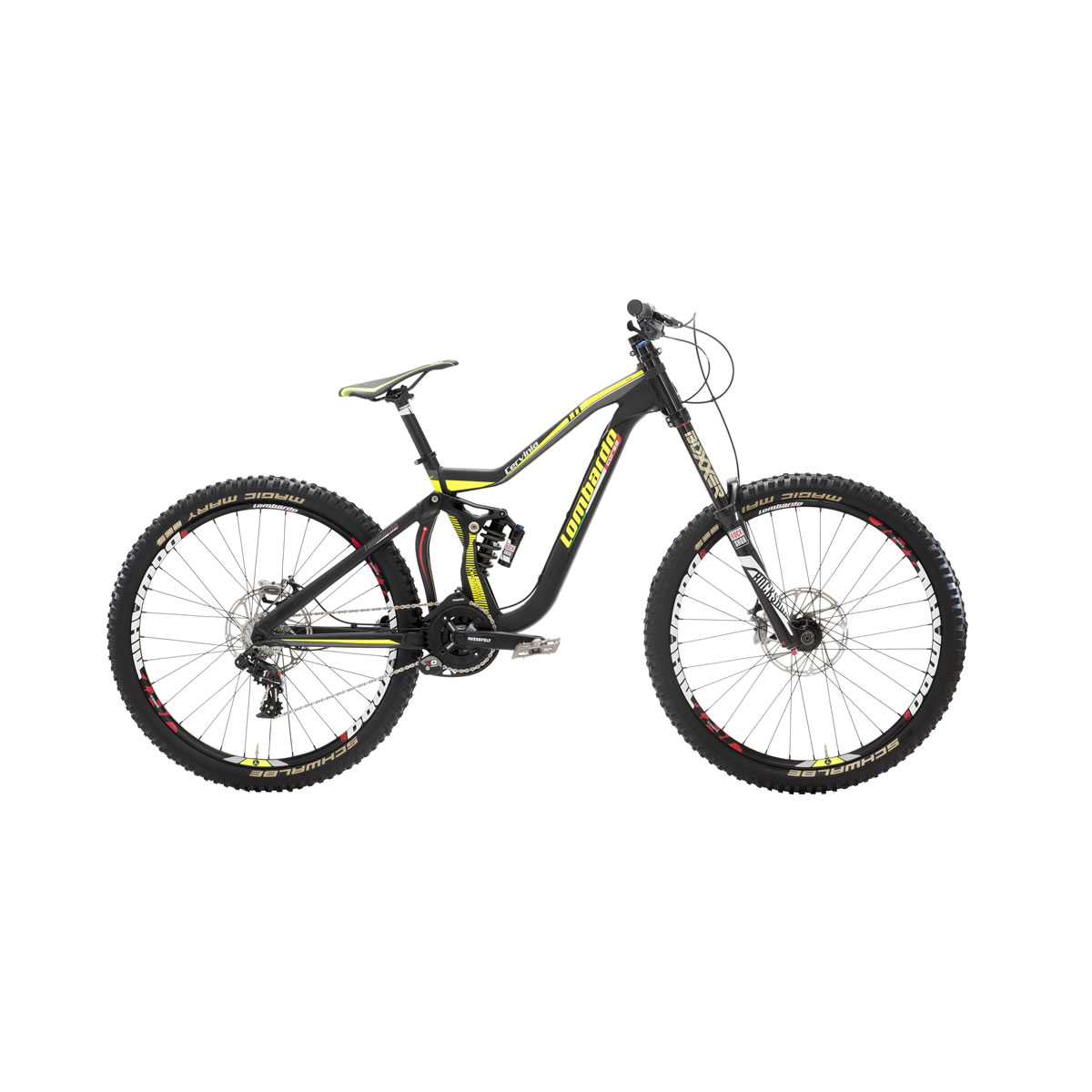 mountain bike cervinia full dh 27 5 downhill nero giallo