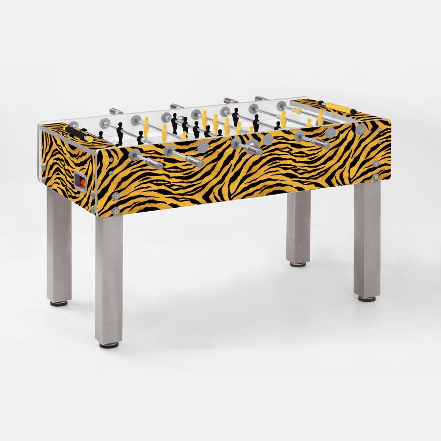 Calcio balilla calcio balilla g 500 design style animal tiger garlando con aste rientranti - Calcio balilla design ...