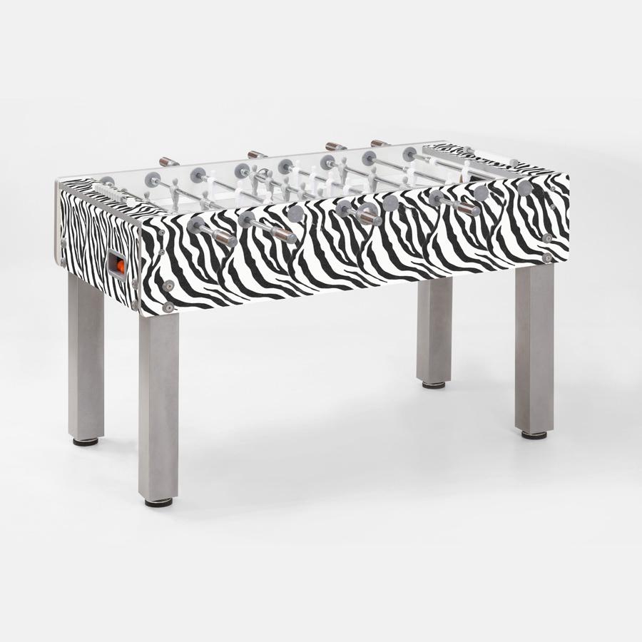 Calcio balilla calcio balilla g 500 design style animal zebra garlando con aste rientranti - Calcio balilla design ...