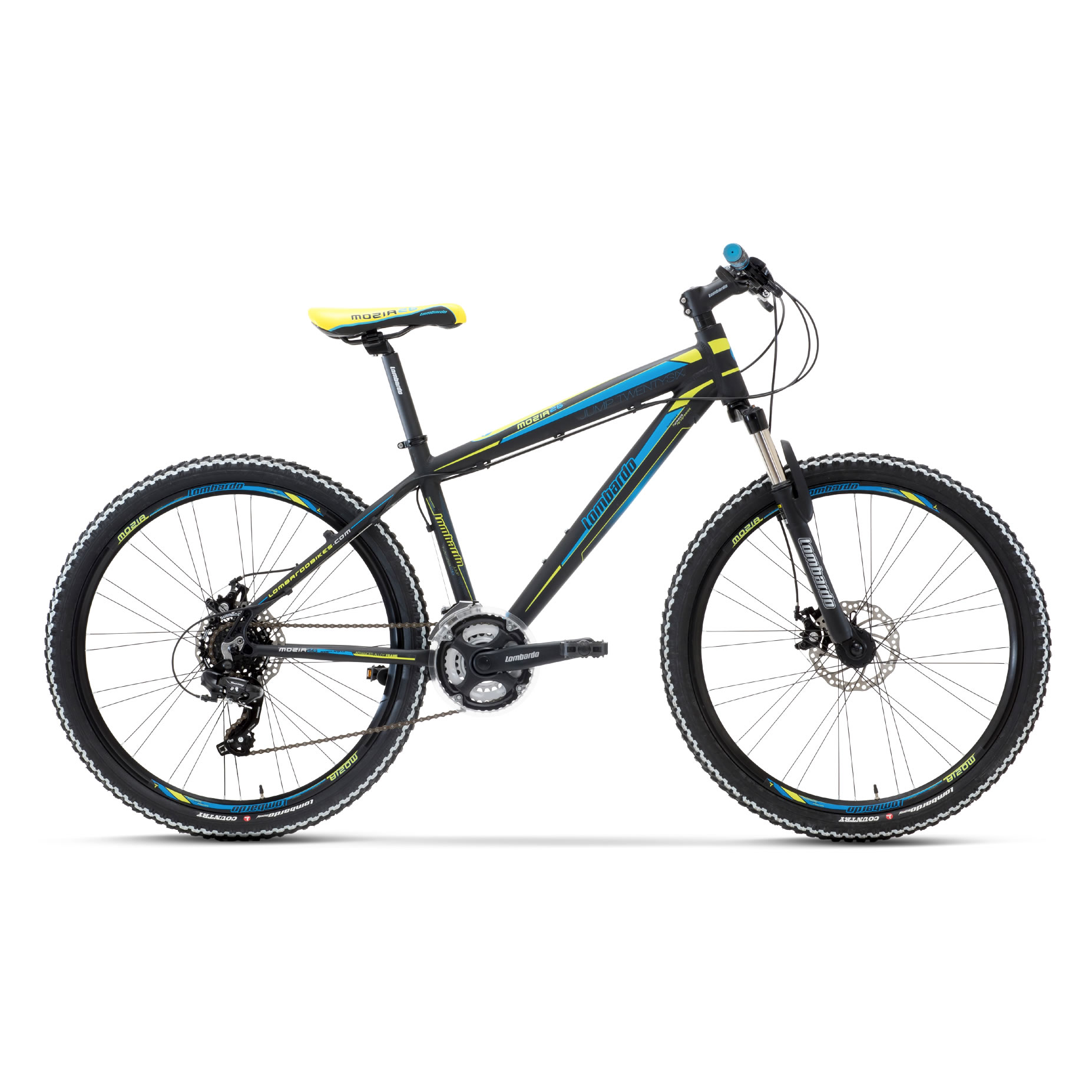 Mozia 26 Nero Blu Verde Mountain bike - Lombardo Bikes 2018(Anche in comode rate)