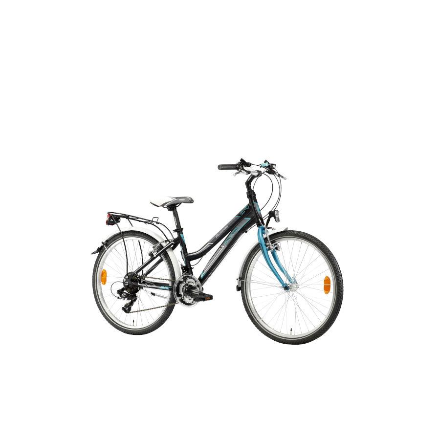 PANAREA ALLOY CITY 24 nera smeraldo young bike -  lombardo bikes 2019(Anche in comode rate)