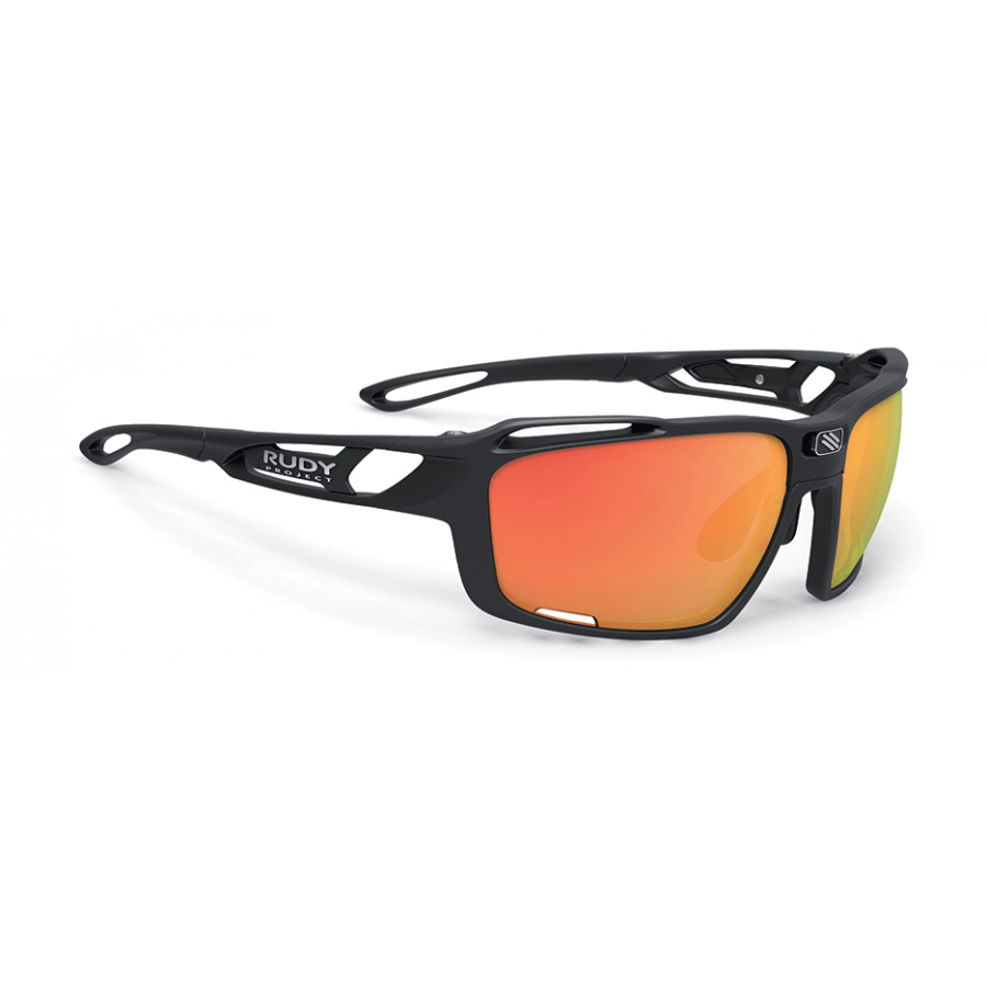 RUDY PROJECT occhiali Sintryx Black Matte con Rp Optics Multilaser Orange e Rp Optic