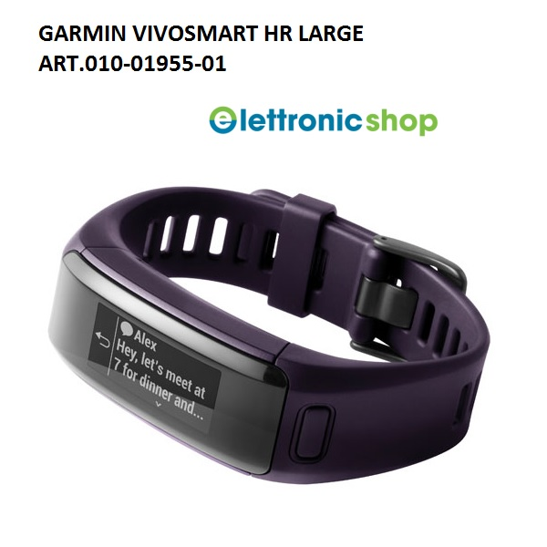 GARMIN VIVOSMART HR PURPLE REGULAR - ART.010-01955-01 - GARANZIA 24 MESI