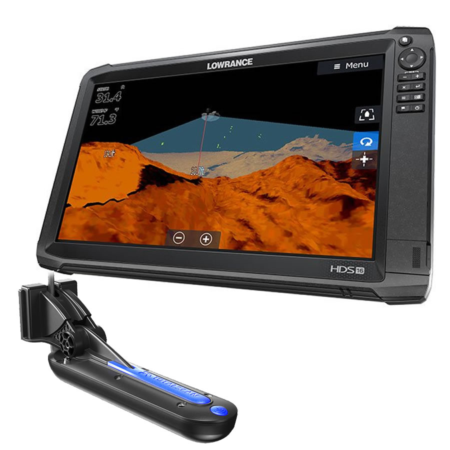 LOWRANCE HDS-16 Carbon ROW Combo Eco GPS con trasduttore TOTALSCAN art. 000-13738-001(Anche in comode rate)