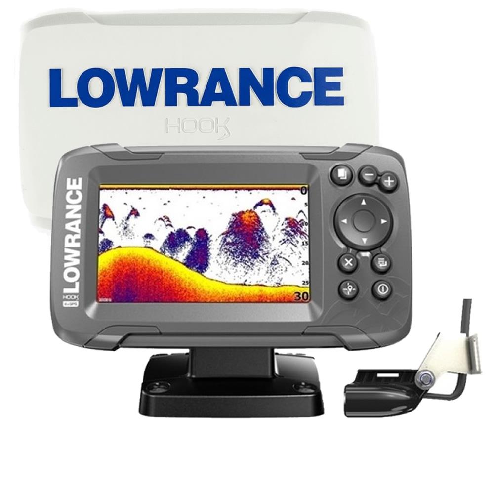 Lowrance HOOK2-4X GPS con trasduttore Bullet e plotter GPS CE art. 000-14015-001 con COVER protettiva