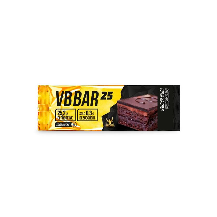 NET INTEGRATORI 24 Barrette proteiche da 50gr Low carb VB Bar 25 SENZA GLUTINE gusto TORTA SACHER