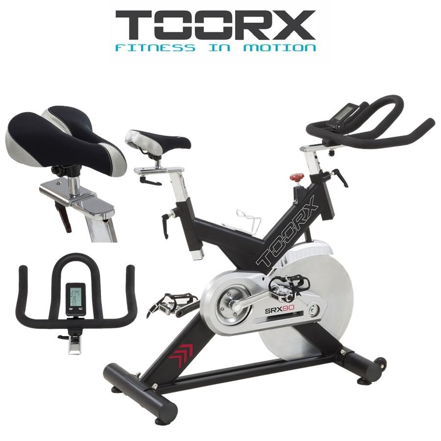 TOORX SRX 90 Spin bike trasmissione a cinghia ricevitore wireless e fascia cardio inclusa(Anche in comode rate)